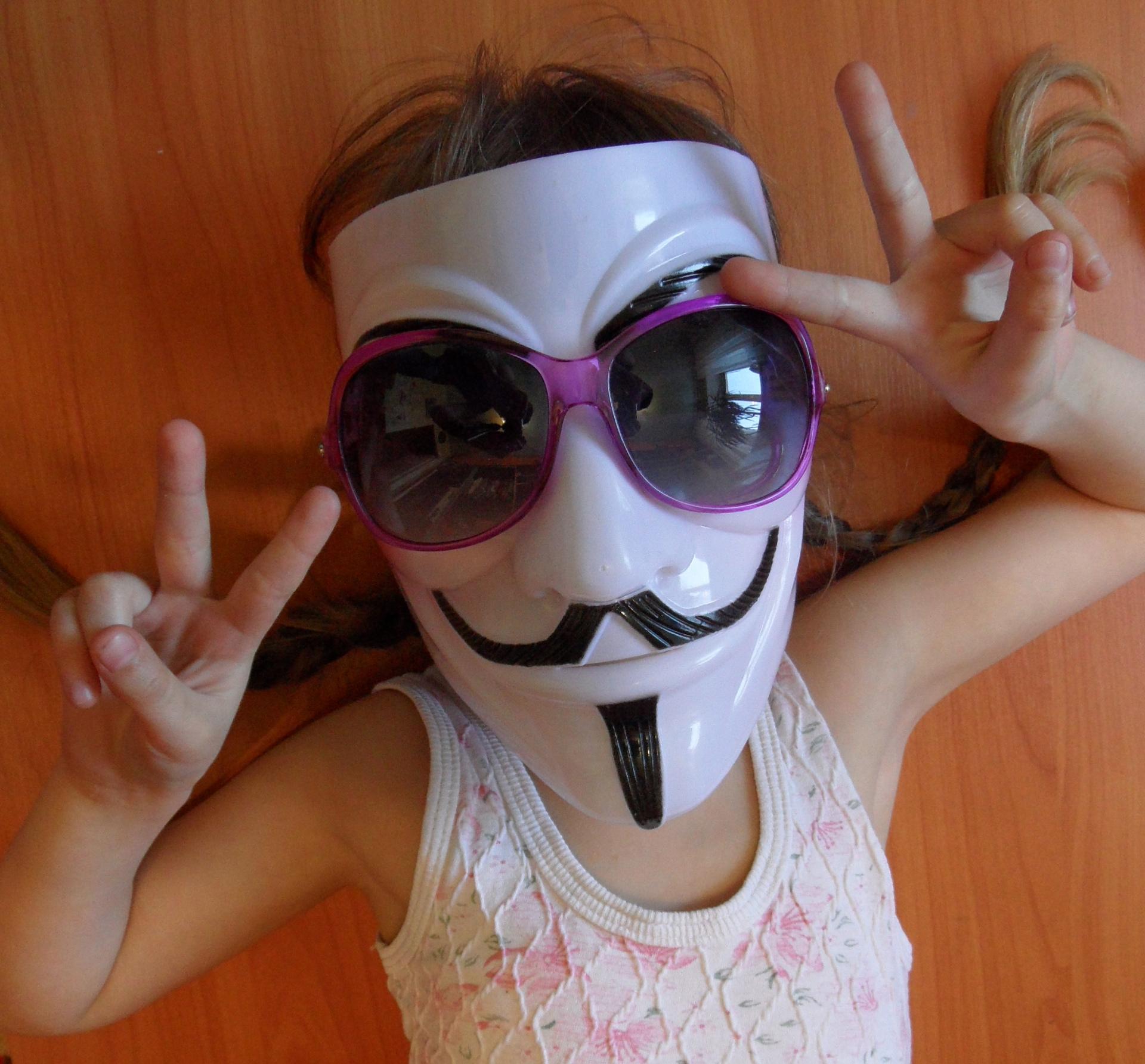 Фото девушек в масках гая фокса на аву